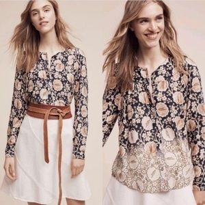 Anthropologie | Maeve | Orli Bibbed Top | Floral